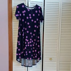 Purple polka dot Carly dress